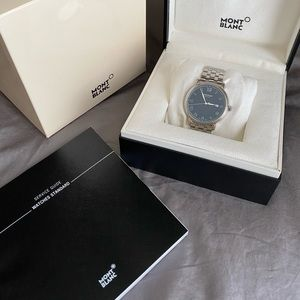 Mont Blanc Tradition Automatic Blue Dial